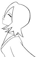 Bleach: Wistful Rukia Lineart by Anie