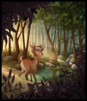 Fauna in the forest by Nekranea