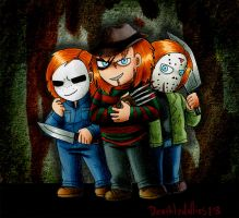 Three Dolls Four Killers by Deathlydollies13