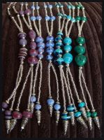 Handmade Glass Bead Necklaces by DragonTreasureArt