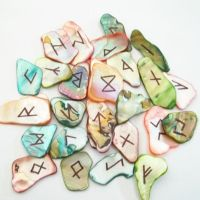Rainbow Mix Abalone Shell Runeset by poisons-sanity