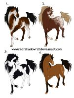 Horse P-t adoptables 2:CLOSED by Red-Sinistra