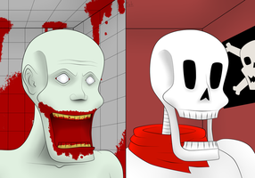 Papyrus = SCP 096 by GolemGame