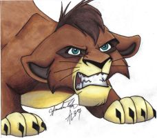 Cub Kovu Snarling by Usiku by The-Outlanders