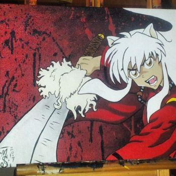 Inuyasha and Tessiga by mSanchez89