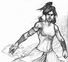 Korra sketch by lycanthropeful