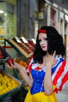 Snow White at the Grocery Shop by flop404