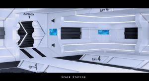 Space Station 3D by Relderson
