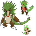 chespin evolution line by roblee96