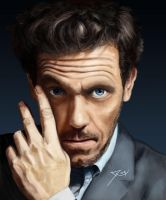 Hugh Laurie by r3cycled