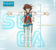 Character Re-Design ~ Taro Sega (Segagaga) by SterlingQuinn