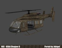 RE6 BSAA Chopper A by Adngel