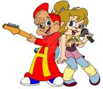 Alvin and Brittany Jammin' by Peacekeeperj3low
