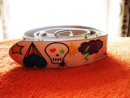 Comic style belt by Laura-in-china