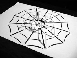 spider of papper by lexter-mime