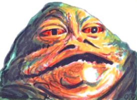 Jabba the Hutt sketch card by tdastick