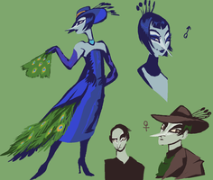 peacock and peahen by Spoonfayse