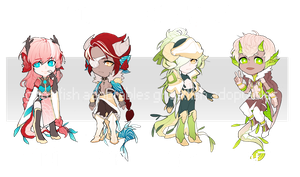 YGGDREKI ADOPTABLE BATCH #1 [CLOSED by bloodcube