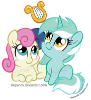 Bon Bon and Lyra by StePandy