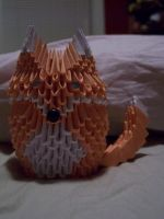 3D modular origami fox by RazorCrow