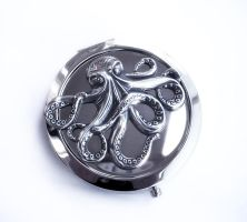 Octopus Compact Mirror by Aranwen