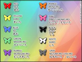 Japanese Vocabulary - Colors by isinha101