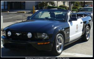 Mustang Convertible LAPD Car by AndySerrano