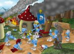 War of the smurfs by Gogszi