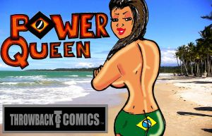 Throwback Comics Swimsuit edition Cover by RWhitney75