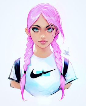 Nike girl by rossdraws