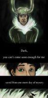 Dark Come Soon, Little Loki by visiblespectre