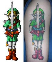 Link tattoo by PixelArtPaintings