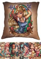 Princess Pillows (Blue Varient dress) by telegrafixs