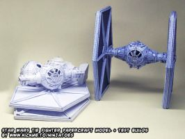 Star Wars papercraft TIE-fighter + test builds by ninjatoespapercraft