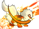 Arcanine Used Firefang by Monnick