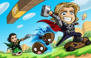 Super Odinson Bros. by Nanaga