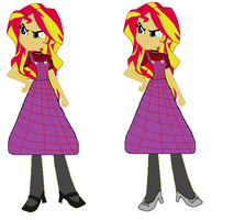 GOH-TWOZ: Sunset Shimmer as Dorothy Gale by GamerGirl14