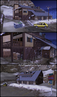 Motel near Inari (Outside) - Memento Mori 2 by JhonyHebert