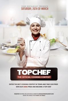 Top Chef Contest - Flyer Template by YczCreative