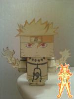 Naruto Uzumaki Bijuu Mode Cubee Finished by rubenimus21