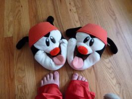 Wakko slippers by ExileLink