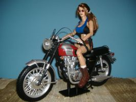 Custom Lara Croft Motorcycle by billvolc