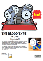 Blood Type Comic Papercraft by ryanbhuled