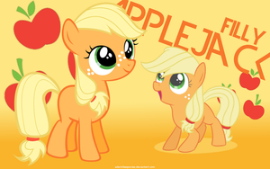 Filly Applejack Wallpaper by adamlikesponies
