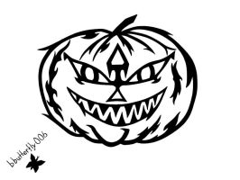 Tribal Pumpkin by blackbutterfly006