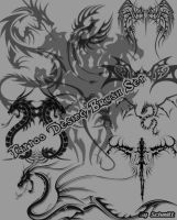 Tattoo Desing Brush Set by schmitthrp