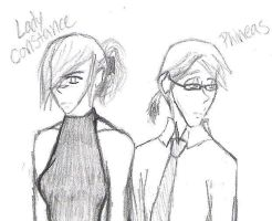 Lady Constance and Phineas by Valen-san