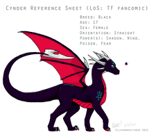 Cynder Reference Sheet by SilverAmphithere