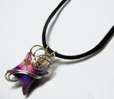 Wire Wrapped Polymer Clay Fairy Pillow Pendant - 1 by Create-A-Pendant