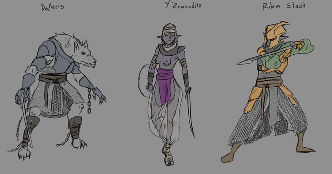 War for Eladria Faction Sketches by goeliath